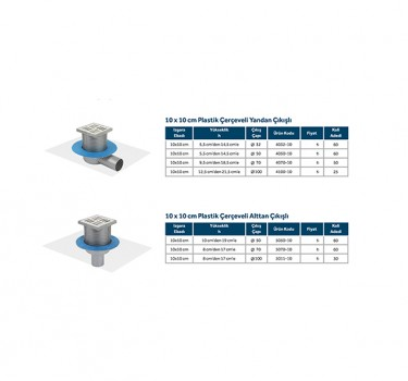 LINE 10 - 10x10 PLASTİK ÇERÇEVELİ MODELLER