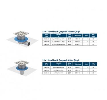 LINE 10 - 15x15 PLASTİK ÇERÇEVELİ MODELLER